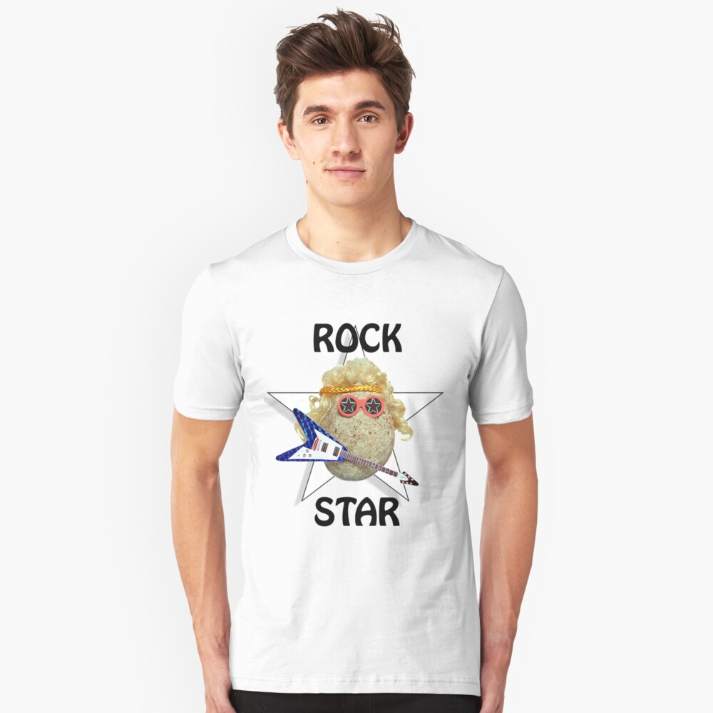 Glam Rock Star Unisex T-Shirt Front