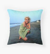 Marilyn Monroe on the Beach Throw Pillow