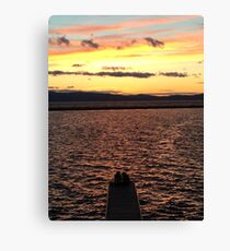 Sunset Friends Canvas Print