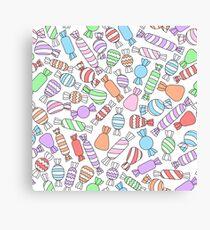 Pastel candies Canvas Print