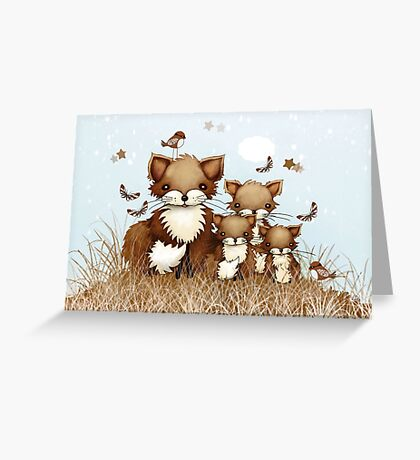 Little Foxes Greeting Card