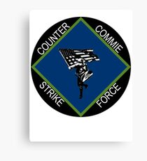 counter commie strike force Canvas Print