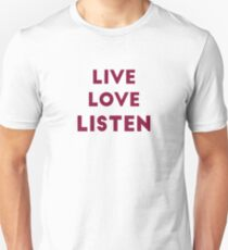 Live Love Listen - Audiology T-Shirt