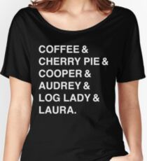 Twin Peaks Coffee & Cherry  Women's Relaxed Fit T-Shirt