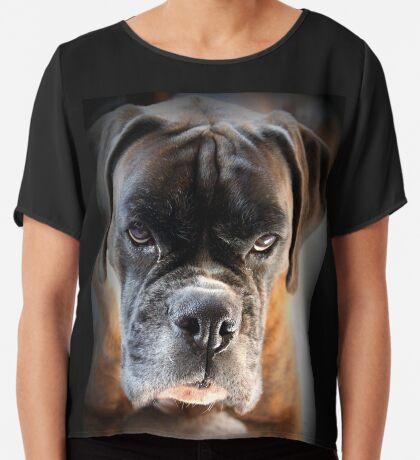 Gehen Sie voran .... Machen Sie meinen Tag ~ Boxer Dogs Series ~ Chiffontop für Frauen