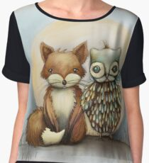 fox and owl Chiffon Top