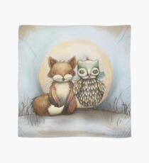 fox and owl Scarf
