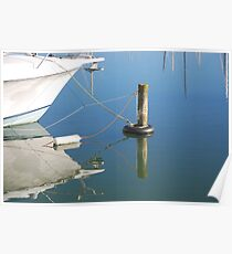 Mooring and Reflection Poster