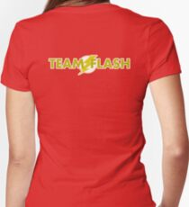 team flash Women's Fitted V-Neck T-Shirt