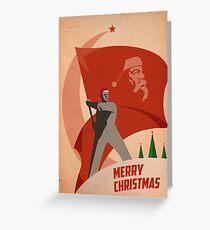 Rote Weihnachten Grußkarte