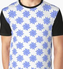 Blue flower pattern for your design Graphic T-Shirt