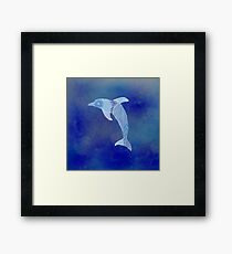 Blue Dolphin water Framed Print