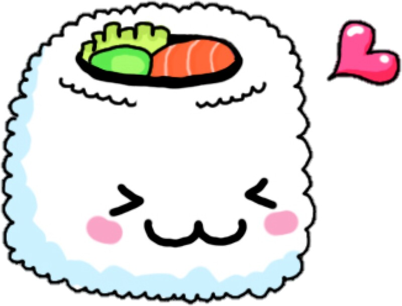 Quot Kawaii Sushi Quot Stickers By Erinaugusta Redbubble