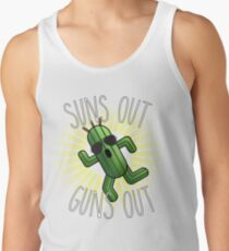 Final Fantasy Cactuar - Suns Out Guns Out (V.1) Tank Top