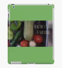 Healthy, sano y natural iPad Case/Skin