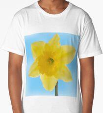 Yellow jonquil mesh flower Long T-Shirt