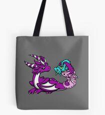 Mama Dragon with Babies Tote Bag