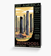 National Parks 2050: Redwoods Greeting Card