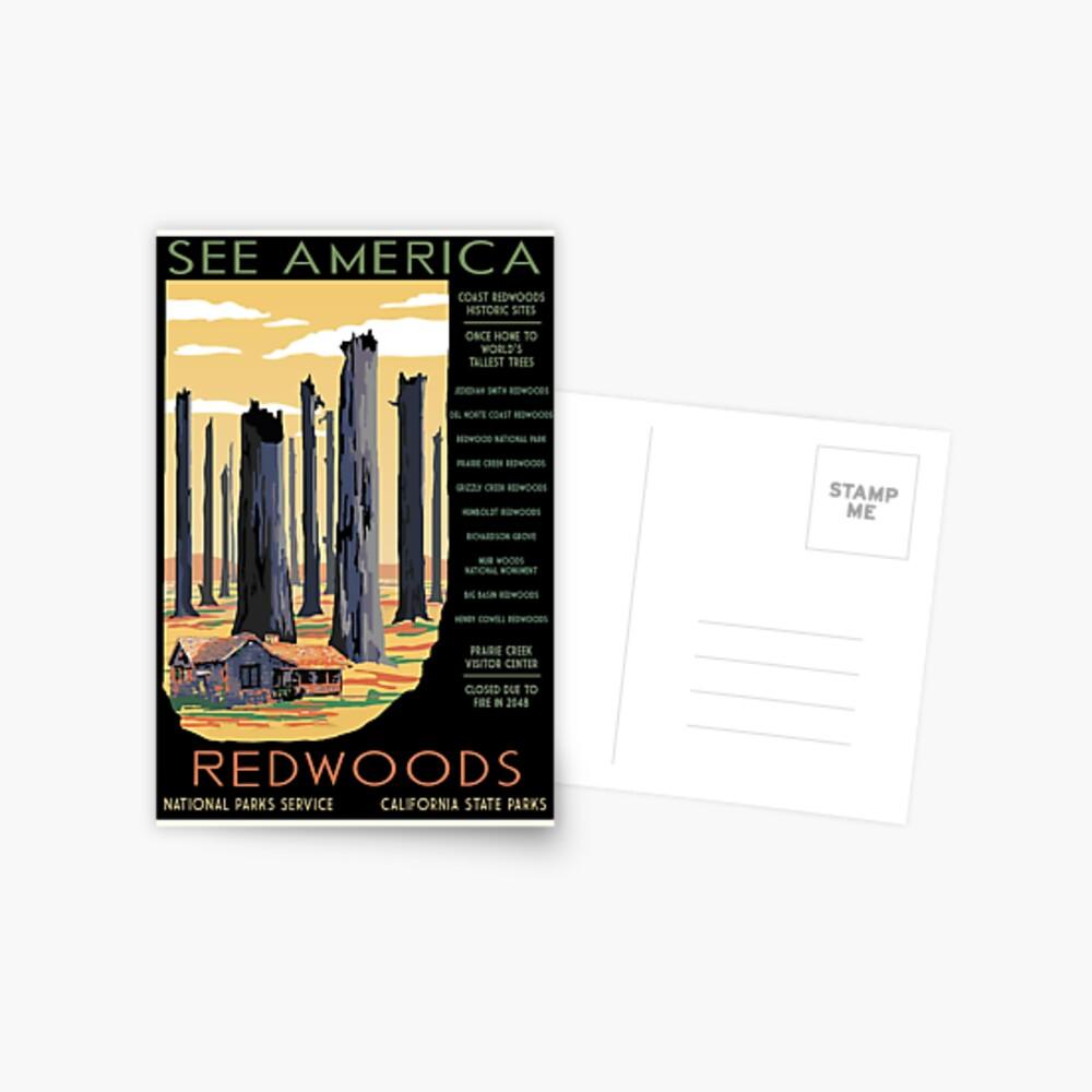 Nationalparks 2050: Redwoods Postkarte
