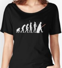 The Dark Side Of Evolution - White  Women's Relaxed Fit T-Shirt