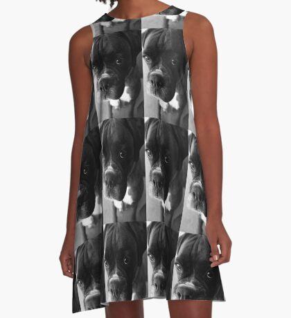 Kannst du nicht sagen ... Es war nicht ich ... - Boxer Dogs Series A-Linien Kleid