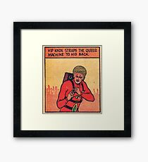 Comic:  Hip Knox and the Queer Machine Framed Print