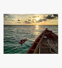 Cambodian Sunset Photographic Print