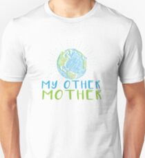 Earth My Other Mother - Earth Scribble in blue and green Unisex T-Shirt