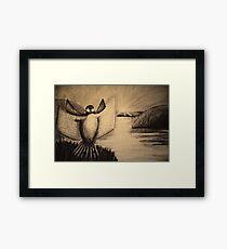 The Book Bird Framed Print