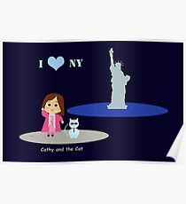 Cathy and the Cat in New York Poster