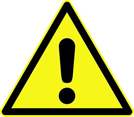 panneau d 39 avertissement point d 39 exclamation en triangle jaune impressions photo par. Black Bedroom Furniture Sets. Home Design Ideas