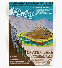 Nationalparks 2050: Kratersee Poster