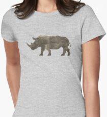 Gebiets-Nashorn Tailliertes T-Shirt für Frauen