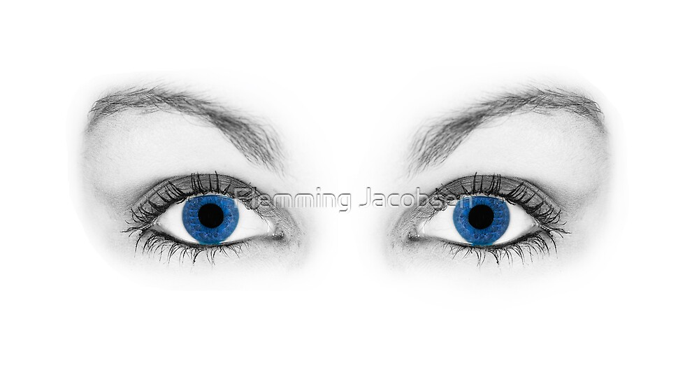 Blue eyes by Flemming Jacobsen