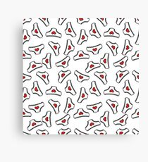 panties doodle pattern Canvas Print