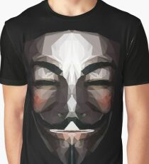 Low Poly Guy Fawkes Mask Graphic T-Shirt