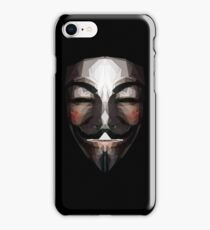 Low Poly Guy Fawkes Mask iPhone Case/Skin