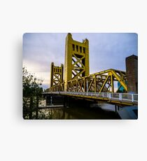 Tower Bridge In Old Sacramento Image By Rich AMeN Gill Canvas Print