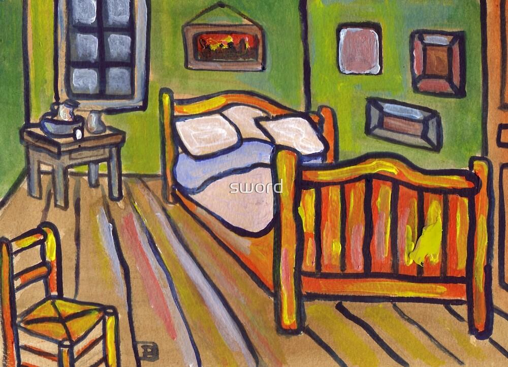 Van Goghs Bedroom At Arles  by sword