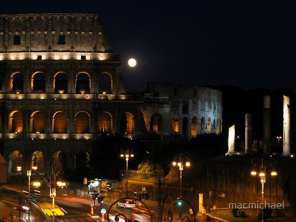 Rome at night by macmichael
