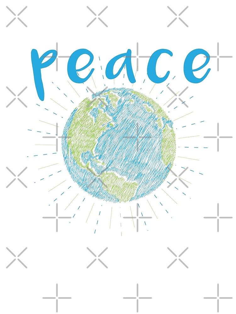 Peace on Earth - Earth Scribble by jitterfly