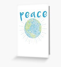 Peace on Earth - Earth Scribble Greeting Card