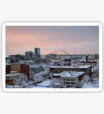 Rooftops in Portland Oregon  Sticker
