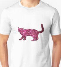 Glitter Cat Sticker Unisex T-Shirt