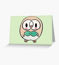 Blushing Rowlet Greeting Card
