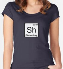 The Atomic Symbol for Detection  Women's Fitted Scoop T-Shirt