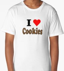 I Love Chocolate Chip Cookies Long T-Shirt