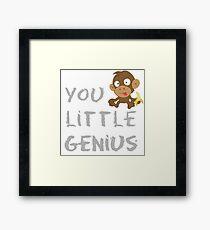 You Little Genius! Framed Print