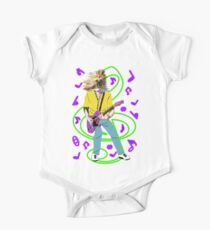 chien guitariste néon Kids Clothes