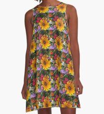 Farm Stand Flowers A-Line Dress